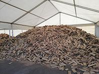 Stockage du bois pour le retrait sur place